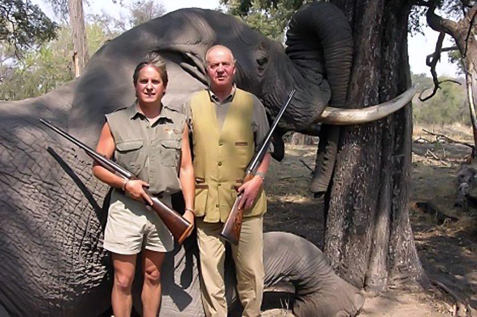 Juan Carlos bei einer Jagdreise 2006