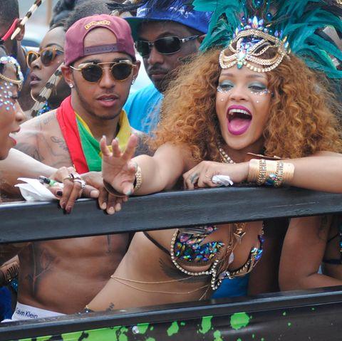 Rihanna und Lewis Hamilton in Barbados
