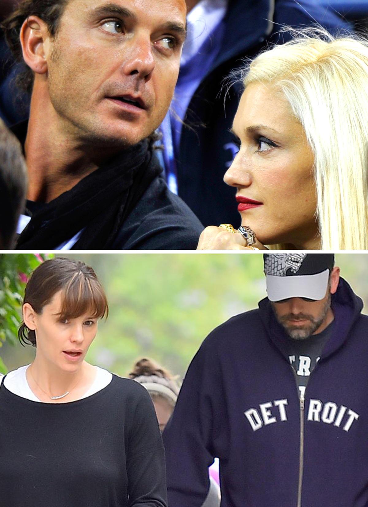 Gavin Rossdale und Gwen Stefani, Jennifer Garner und Ben Affleck