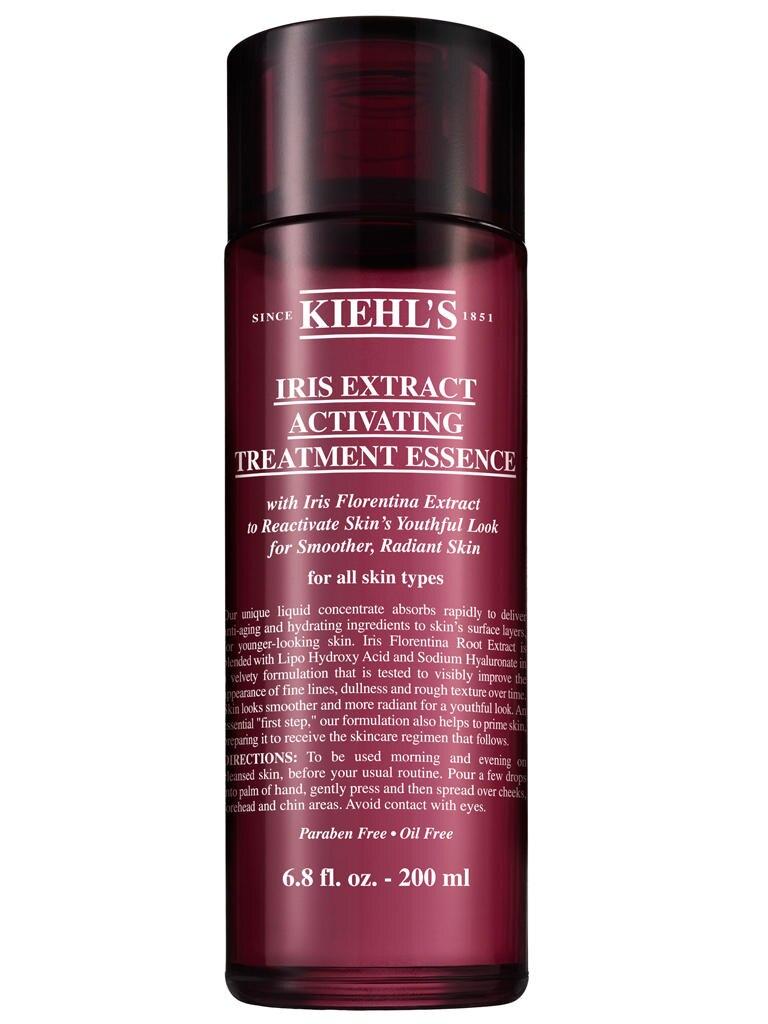 """Nach der Reinigung und vor dem Eincremen einklopfen: """"Iris Activating Treatment Essence"""" von Kiehl's, 200 ml, ca. 33 Euro"""