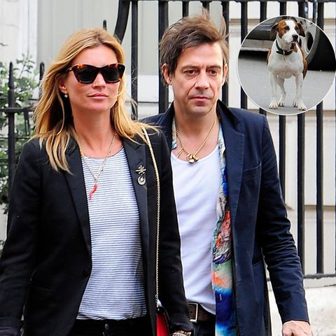 Kate Moss, Jamie Hince + Archie