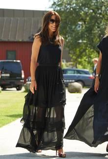 """Auf der diesjährigen Kopenhagen Fashion Week 2015 präsentierte sich Prinzessin Mary in einem Kleid von """"By Malene Birger""""."""