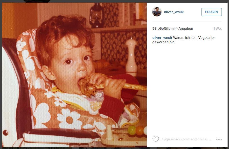 Einen Einblick in sein eigenes Kinderalbum gab Oliver Wnuk nur kurz vorher auf Instagram. Jetzt wissen wir zumindest, wie er als Kleinkind ausgesehen hat.