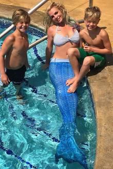Britney Spears und ihre Söhne Sean Preston (li.) und Jayden James