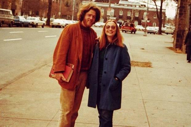 Kaum wiederzuerkennen: Hillary und Bill Clinton zu College-Zeiten