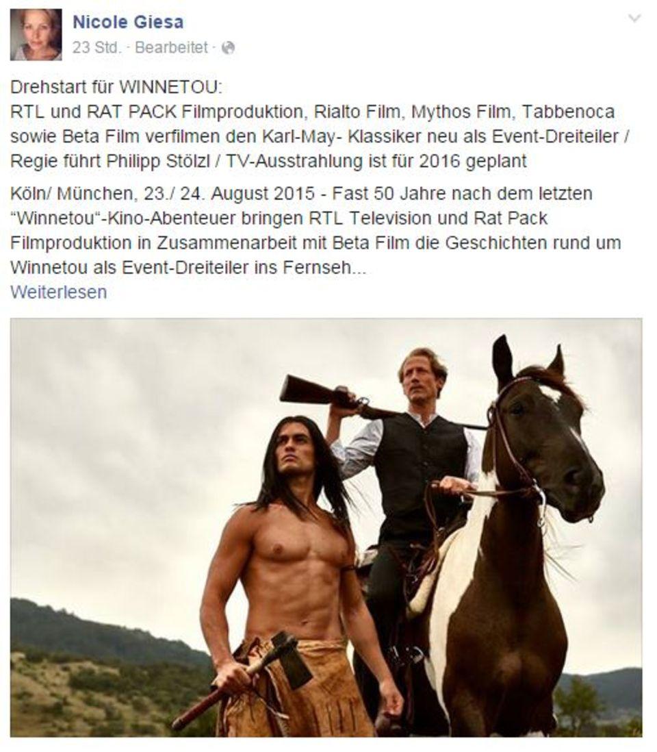 Die Managerin von Wotan Wilke Möhring postete dieses Foto auf ihrer Facebook-Seite.
