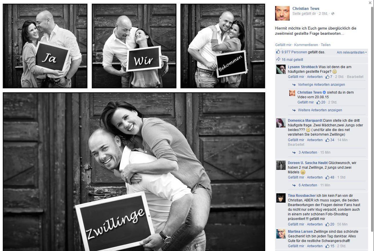 Christian und Claudia Tews werden Eltern.