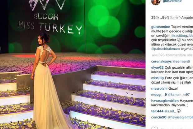 """Amine Gülse war in 2014 """"Miss Turkey"""" und arbeitet auch sonst als Model."""