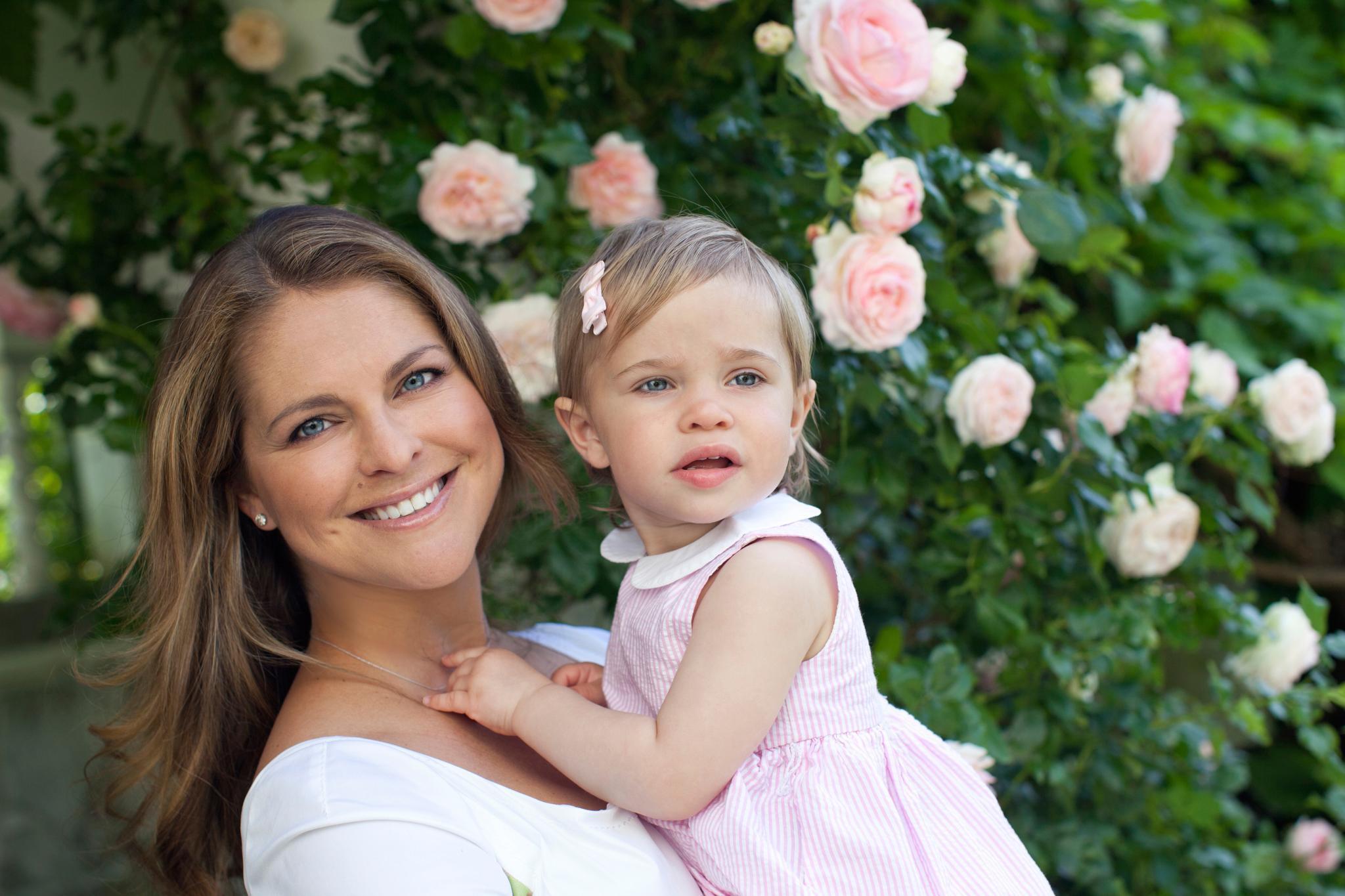 Prinzessin Madeleine mit Prinzessin Leonore