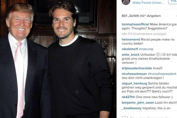 Donald Trump, Tommy Haas