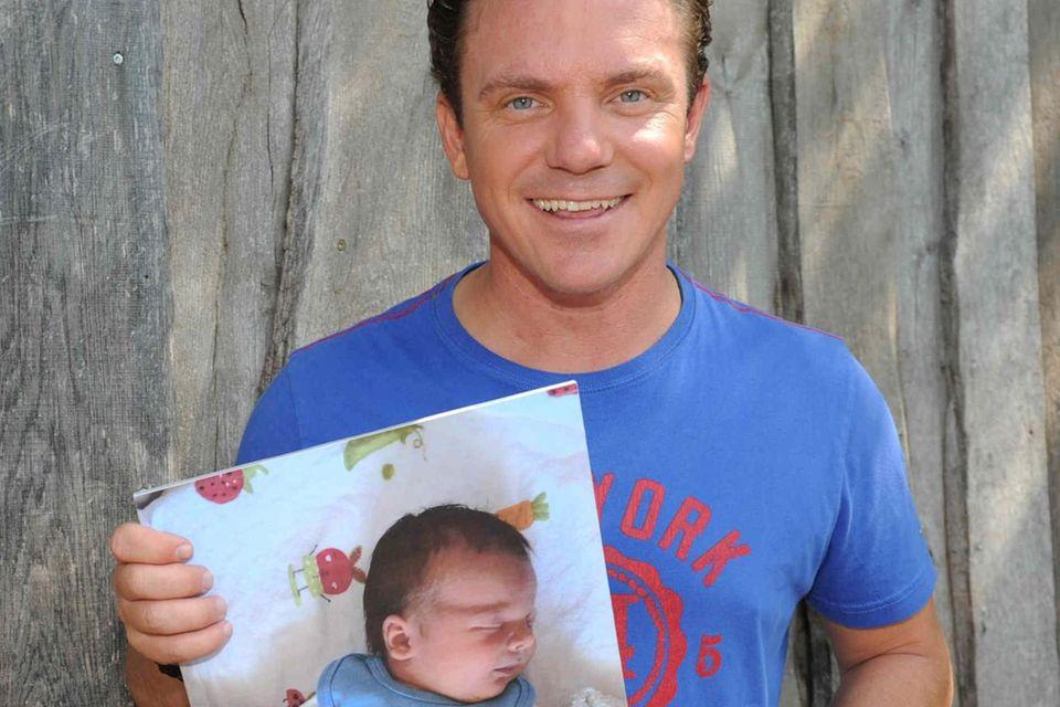 Stefan Mross und sein Sohn Valentin Stefan.