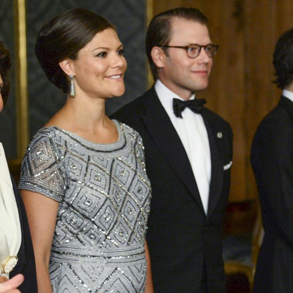 König Carl Gustaf, Königin Silvia, Prinzessin Victoria und Prinz Daniel