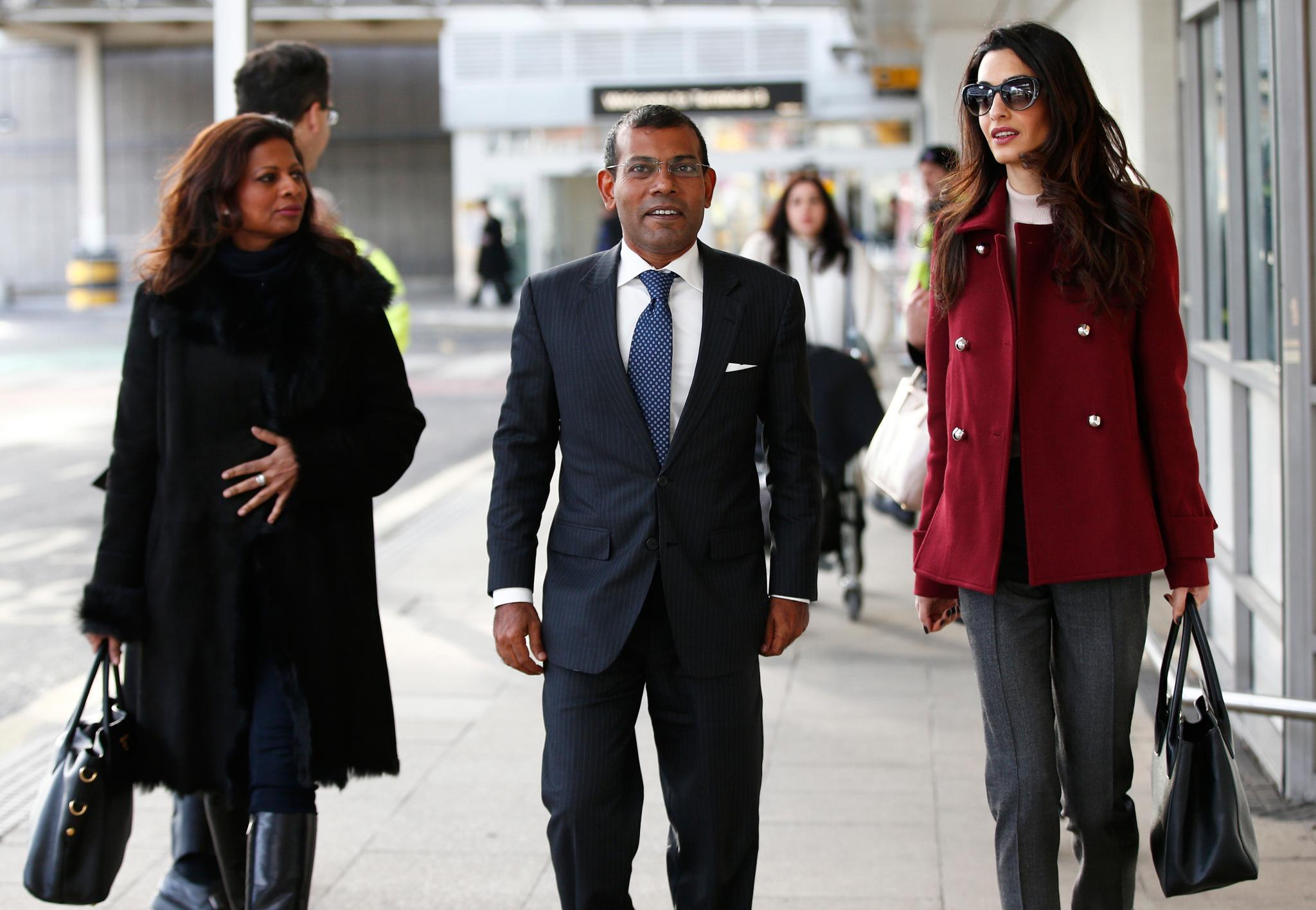 Laila Ali Abdulla, Mohamed Nasheed, Amal Clooney