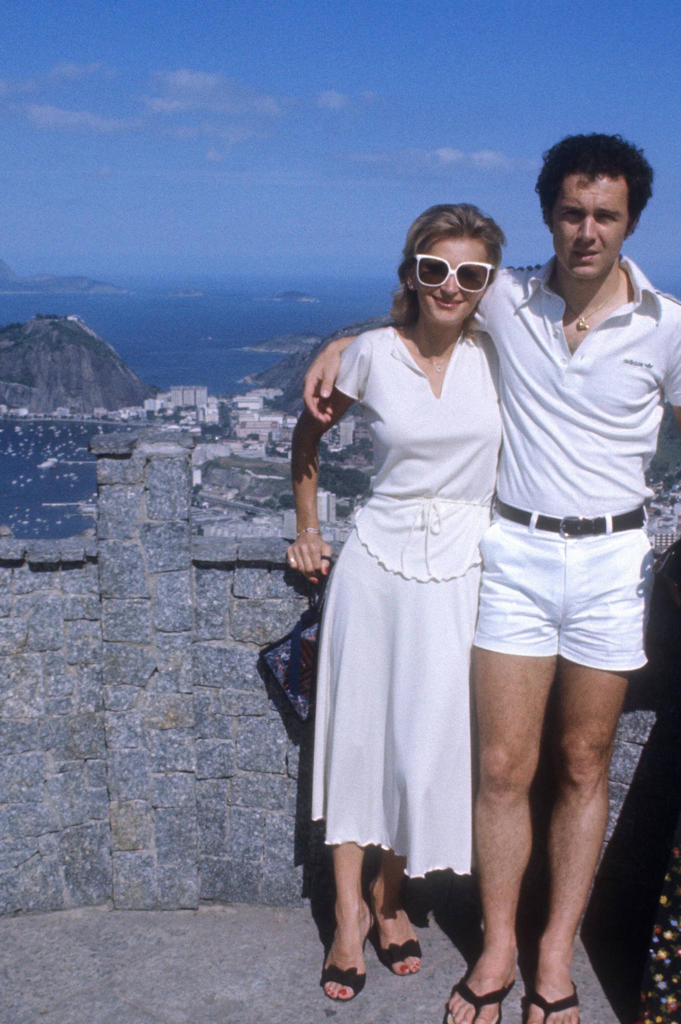 Diana Sandmann 1977 mit Beckenbauer. Zwölf Jahre waren die beiden ein Paar