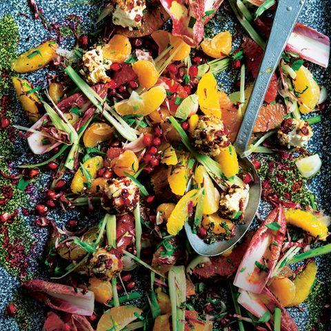 Zitrussalat mit Radicchio und Granatapfeldressing