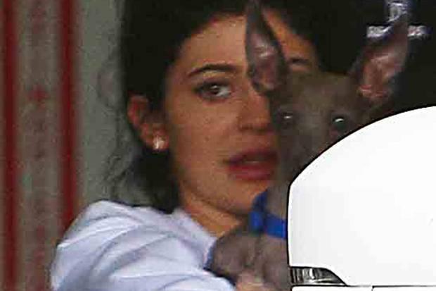 Kylie Jenner ist ungeschminkt kaum zu erkennen.