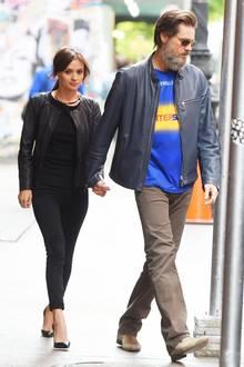 Da waren sie noch glücklich: Cathriona White und Jim Carrey im Mai
