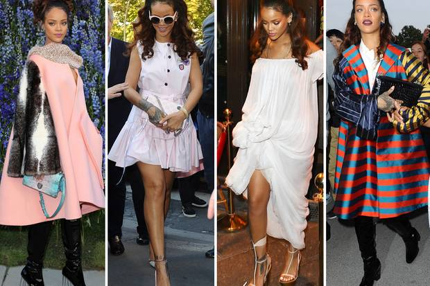 Na also, geht doch! Rihanna bewies mit gleich vier großartigen Looks in Paris, dass sie eben doch eine wahre Stil-Ikone sein kann - wenn sie denn will.