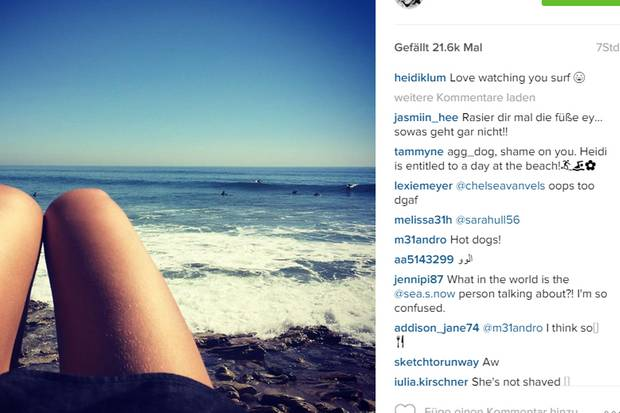 Dieser Strand-Schnappschuss von Heidi Klum sorgte im Netz für eine Diskussion.