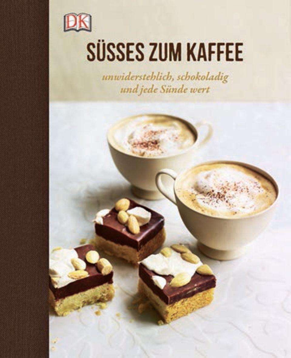 """Was nascht die Welt zu Kaffee, Latte macchiato und Espresso? Das hübsch bebilderte Buch liefert die köstlichen Antworten: Pekanuss-Plätzchen mit Cranberrys, Kirsch-Biscotti oder Dulce-de-Leche-Cupcakes. Da schmeißt man doch gern die Kaffeemaschine an. (""""Süßes zum Kaffee"""", Dorling Kindersley Verlag, 192 S., 19,95 Euro)"""