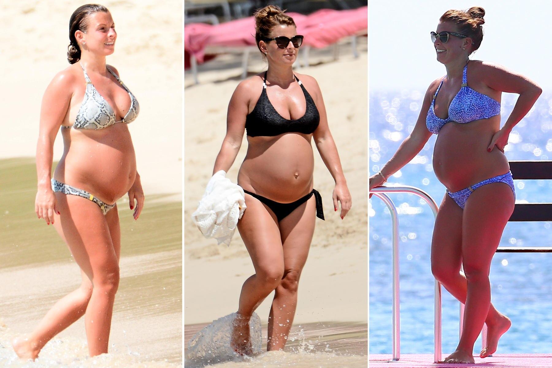 Schön schwanger im Traumurlaub auf Barbados: Coleen Rooney lässt es sich in ihrer dritten Schwangerschaft gut gehen.