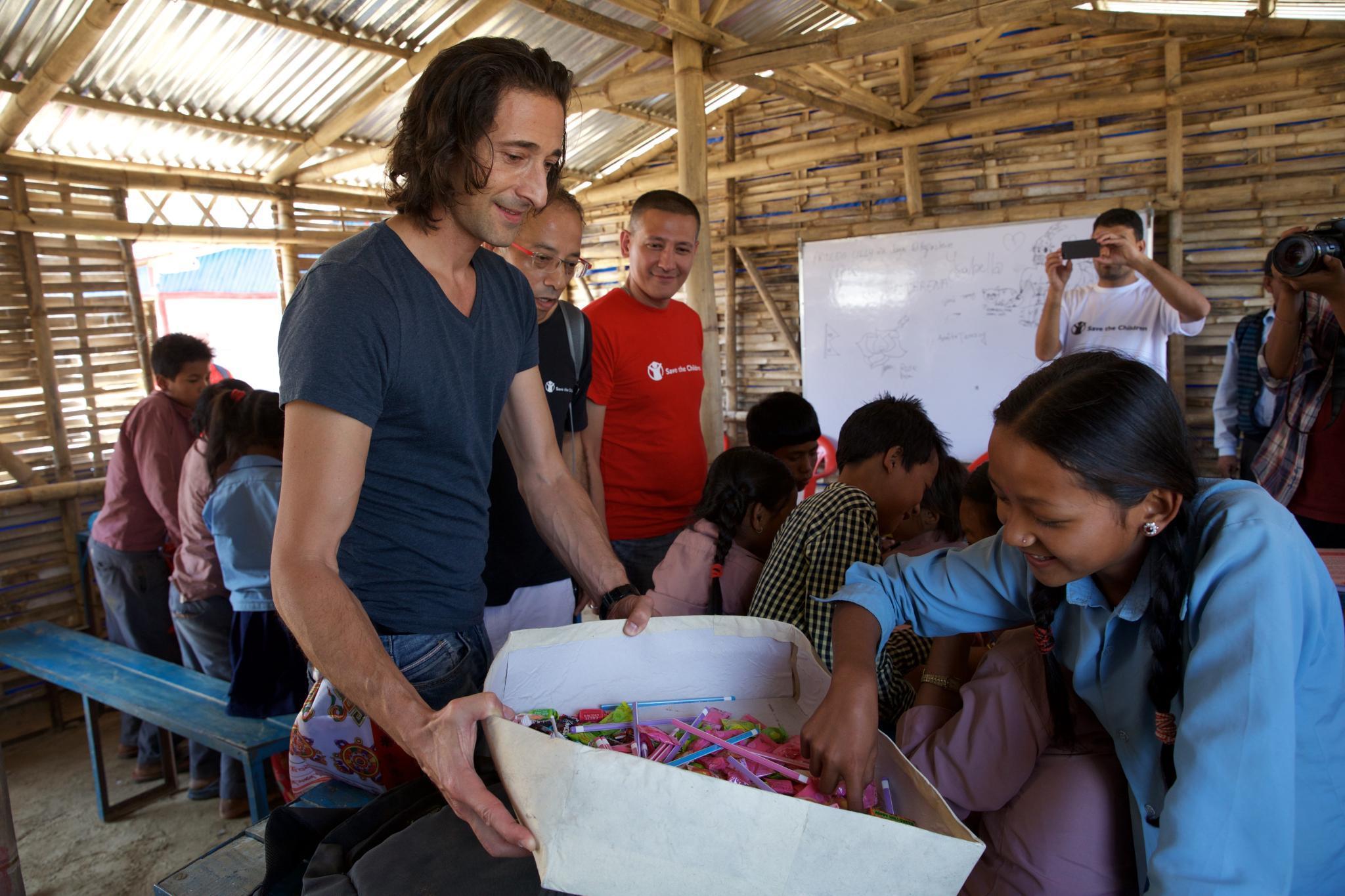 Schauspieler Adrien Brody in Nepal - Er hatte die längste Anreise.