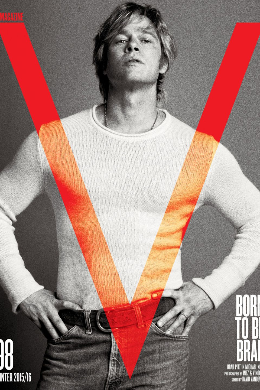 """Brad Pitt als Reinkarnation von Robert Redford auf der aktuellen """"Winter 2015/2016""""- Ausgabe des """"V Magazine""""."""