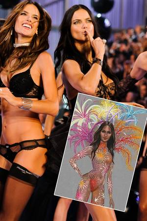 Victoria's Secret Show, Alessandra Ambrosio, Adriana Lima