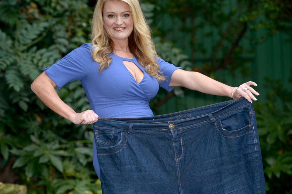 Vor 18 Monaten passte die Britin Cheryl Blythe noch in diese Hose.