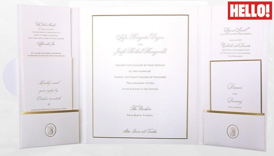 Das ist die Hochzeitseinladung von Sofía Vergara und Joe Manganiello