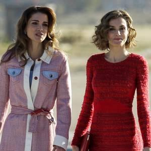 Königin Rania von Jordanien + Königin Letizia von Spanien