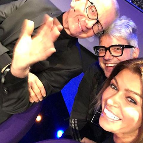 Nach der Sendung knipste Sabia dieses Selfie mit ihren Jurykollegen.
