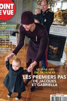 Charlène und Fürst Albert von Monaco mit Prinzessin Gabriella und Kronprinz Jacques