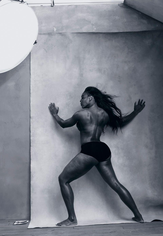 Kraftvoller Körper: Tennis-Profi Serena Williams, 34,.