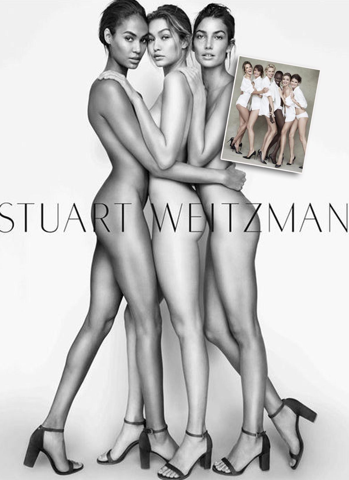 Joan Smalls, Gigi Hadid, Lily Aldridge für Stuart Weitzman