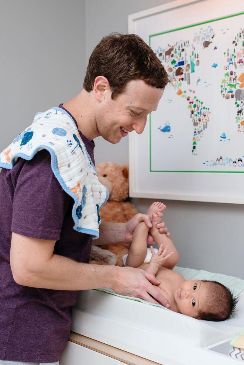 Mark Zuckerberg und Tochter Max