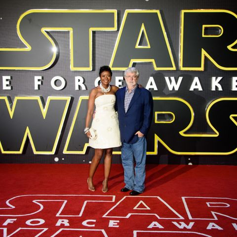 """Star Wars""-Erfinder George Lucas, Mellody Hobson"