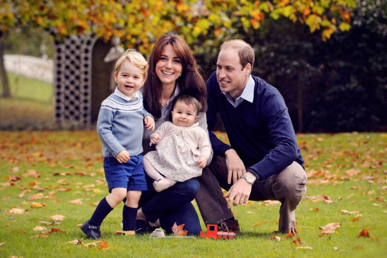 Herzogin Kate und Prinz William mit ihren Kindern Prinzessin Charlotte und Prinz George