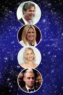 Chris Hemsworth, Helene Fischer, Jennifer Lawrence, Robbie Williams