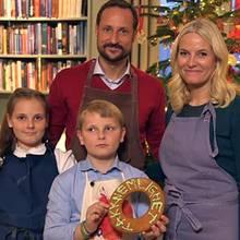 Norwegens Kronprinzenfamilie wünscht frohe Weihnachten.