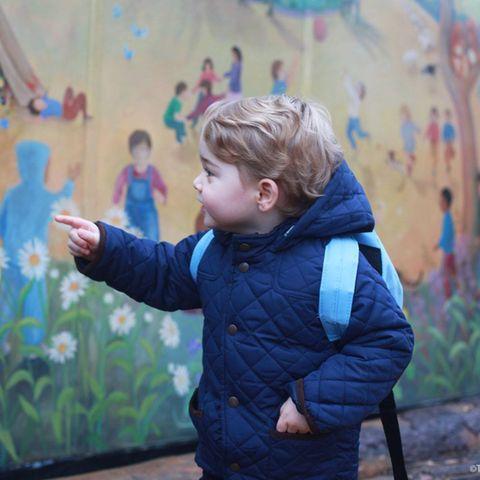 Prinz George: Prinz Georges erster Tag in der Krippe