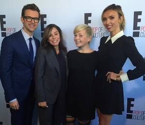 Brad Goreski, Melissa Rivers und Giuliana Rancic freuen sich mit Gala.de-Mitarbeiterin Ines Weißbach auf die Golden Globes am Sonntag.