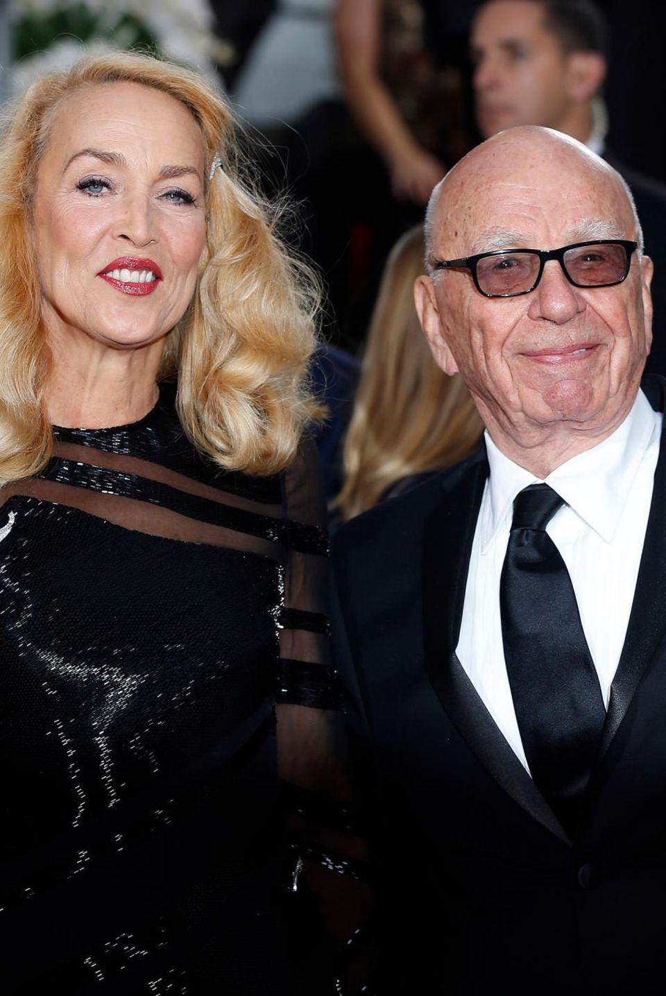 Jerry Hall, Rupert Murdoch