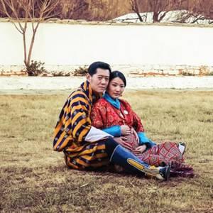König Jigme. Königin Jetsun von Bhutan