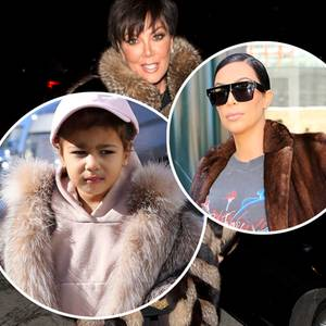 Kris Jenner, North West + Kim Kardashian