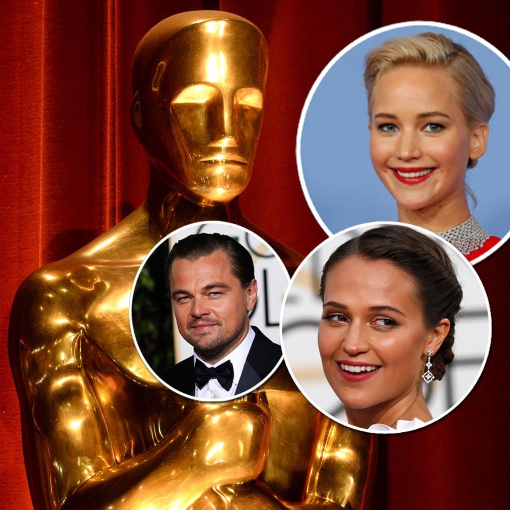 Leonardo DiCaprio, Alicia Vikander, Jennifer Lawrence