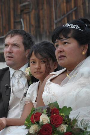Narumol und Josef mit Narumols Tochter