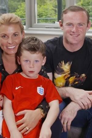 Coleen und Wayne Rooney mit Klay und Kai