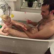 Torben Chris mit seiner Tochter