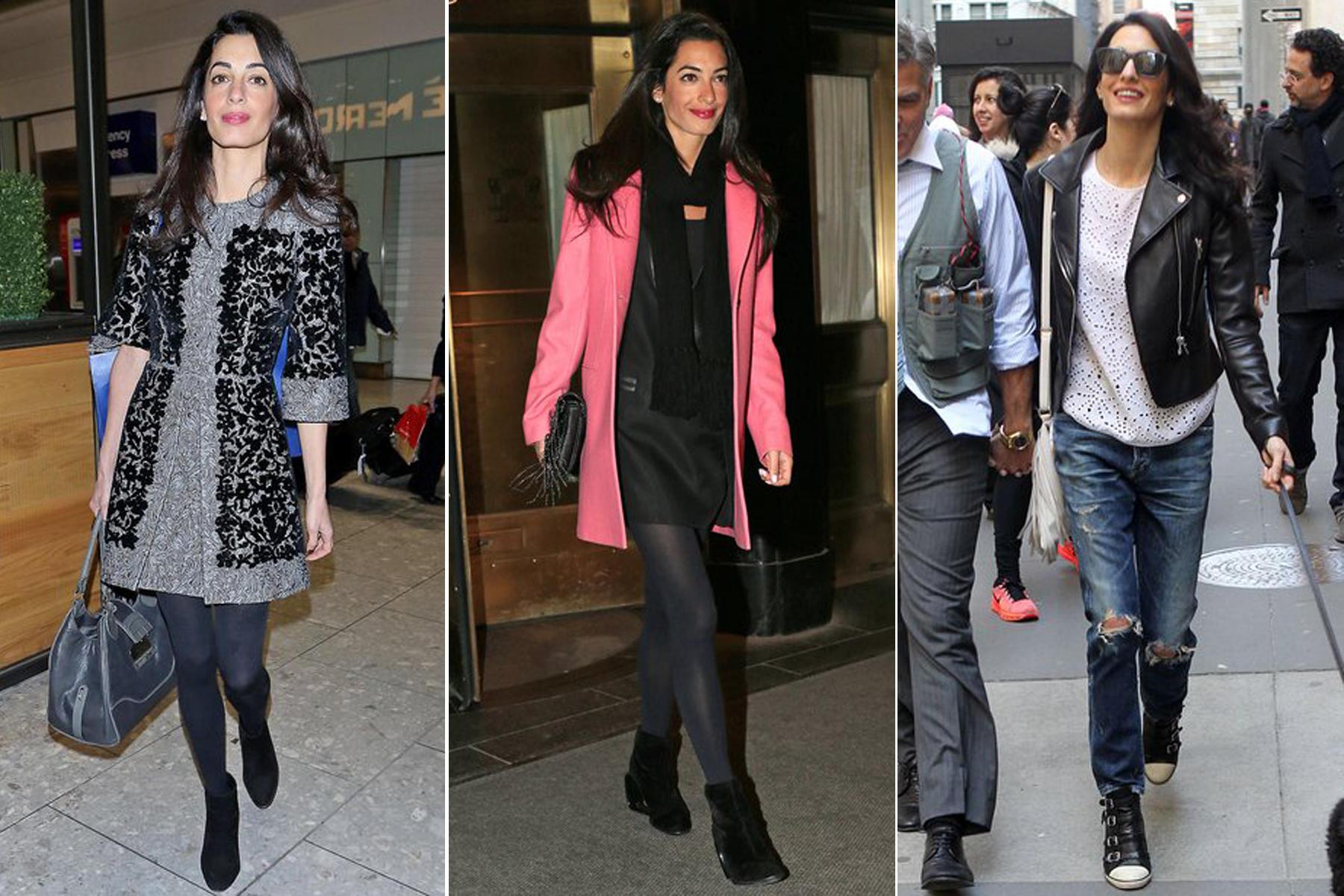 Von links nach rechts: Der graue Mantel von Dolce & Gabbana kostet knapp 4000 Euro, das pinke Modell von Balenciaga knapp 1300 Euro und die Lederjacke (ebenfalls Balenciaga) schlägt mit 2445 Euro zu Buche.